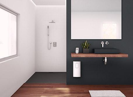 stiebel eltron dhe durchlauferhitzer mit radio und wlan. Black Bedroom Furniture Sets. Home Design Ideas
